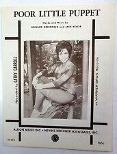 CATHY CARROLL Sheet Music POOR LITTLE PUPPET Aldon Publ. 60's Female POP VOCAL W