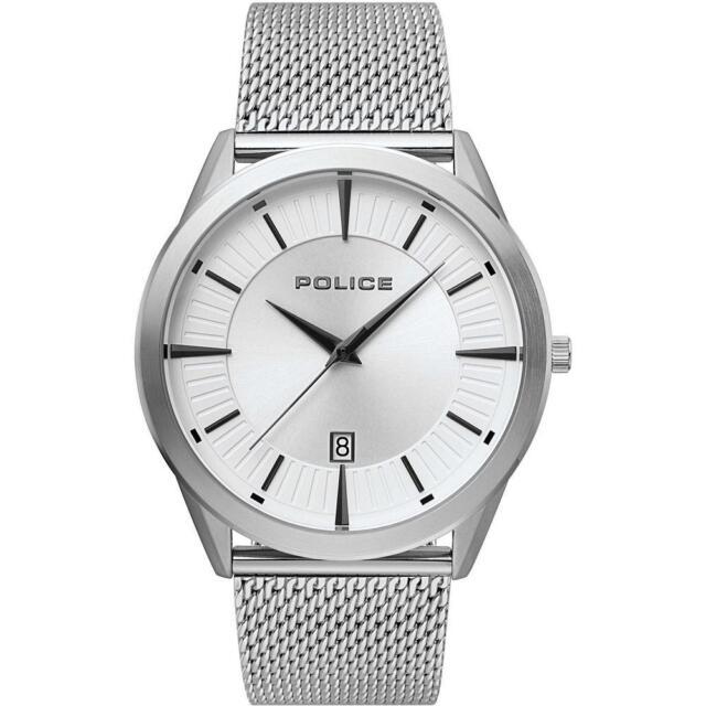 Reloj de Hombre POLICE PATRIOT R1453296001 Acero Inoxidable Mesh Blanco