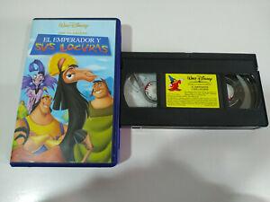 EL-EMPERADOR-Y-SUS-LOCURAS-VHS-CINTA-TAPE-LOS-CLASICOS-DE-WALT-DISNEY