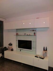Ikea Wohnwand Weiss 240 Cm Breit Ca 200 Cm Hoch Ebay