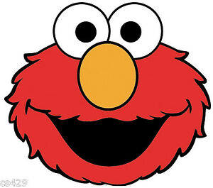 "5.5""-9.5"" Elmo sesame street face wall safe sticker border ..."