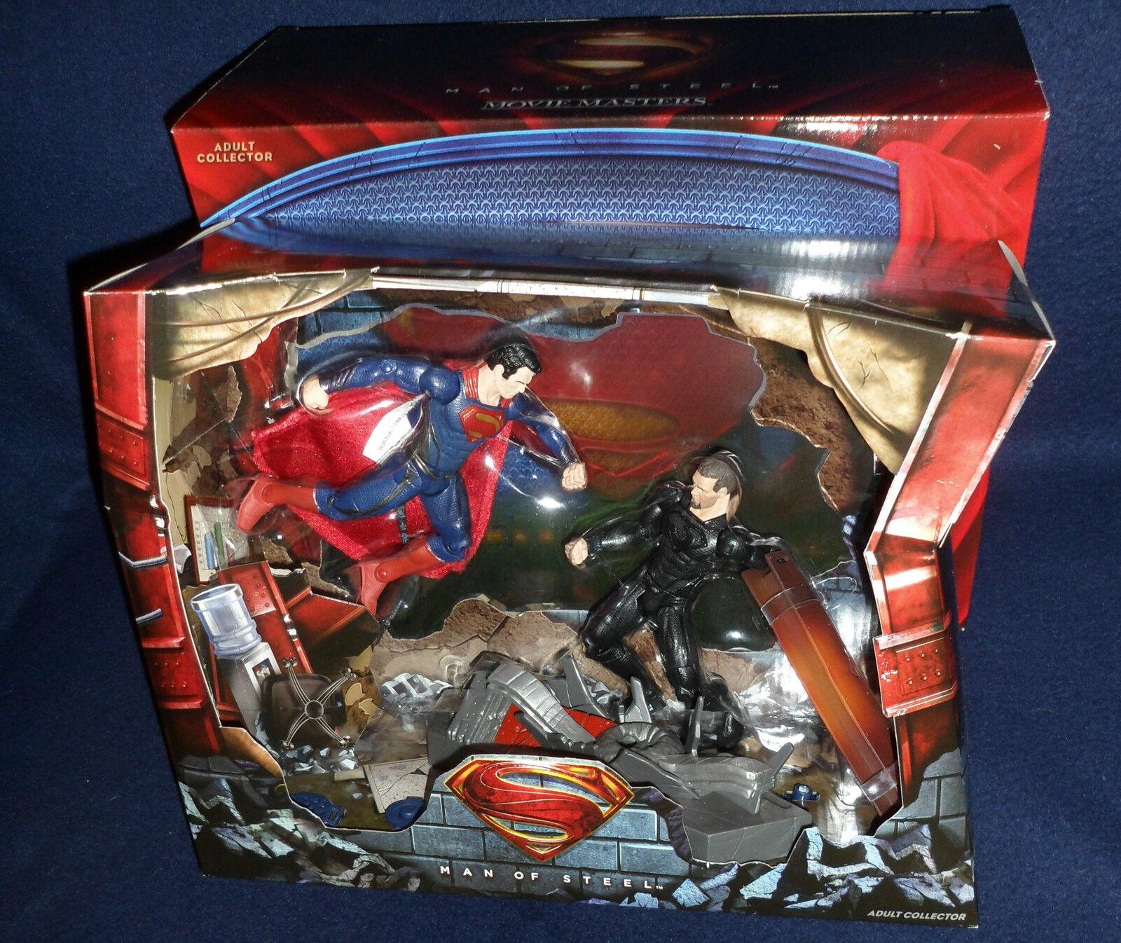 Sdcc 2013 exklusiv dc mann stahl film superman vs. zod abbildung 2 pk mattel