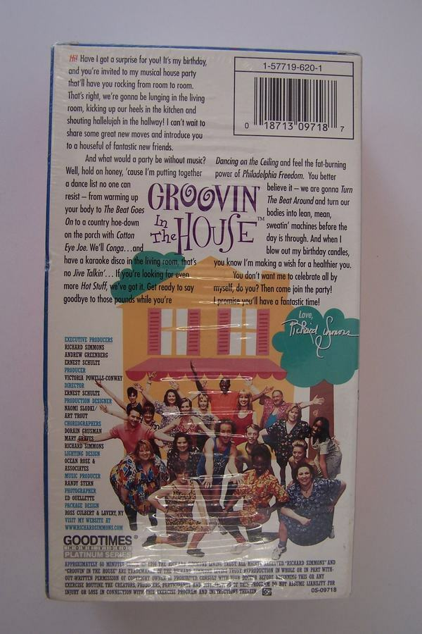 Richard Simmons Groovin' In the House VHS Video Tape Se