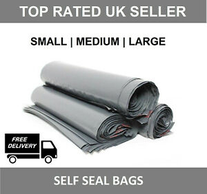 Grey-Mailing-Bags-Strong-Poly-Postal-Postage-Post-Mail-Self-Seal-All-Sizes-MBAG
