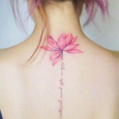 Lotus Flower Temporary Tattoos Stickers Body Art 3d Lotus Tatoo Waterproof 137 Ebay