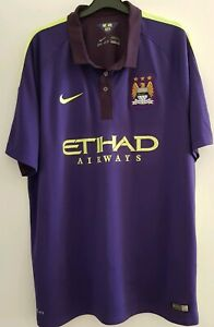 size 40 b3306 50bd0 Details about Manchester City 3rd Football Shirt NIKE 2014-2015 SIZE XL  Dri-Fit MINT CONDITION
