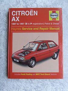 citroen ax 1987 1997 petrol diesel haynes service repair rh ebay co uk citroen ax service manual citroen ax service manual pdf