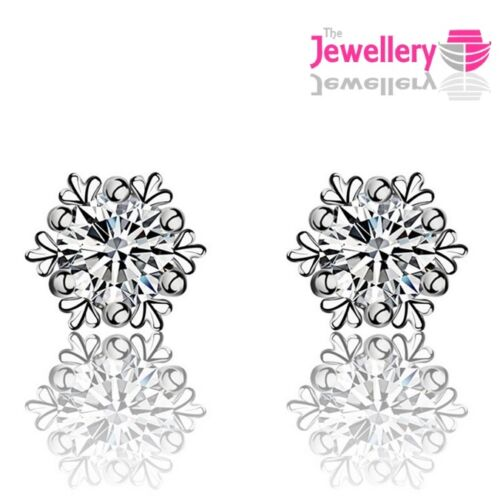 925 Sterling Silver 6 Claw 5mm Round Crystal Stud Earrings Womens Ladies Gift