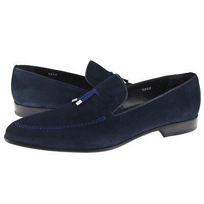 Men/'s Dress//Casual Shoes Blue Corrente 5060 Suede Slip-on Loafer