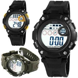 OROLOGIO-DA-POLSO-Cronometro-Cronografo-DIGITALE-Uomo-Palestra-SPORT-ALLENAMENTO