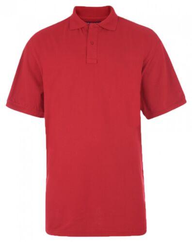 7XL Kam Plain Polo Shirt Pour Hommes Big Tailles 2XL 5XL 6XL 8XL 4XL 3XL