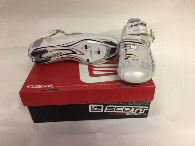 Scott Strada pro Donna Bicicletta Scarpe Bianco e argentoo Eu 36 o Us 5 Ss  3