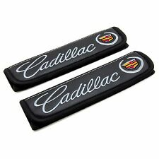 Leather Car Seat Belt Shoulder Pads Covers Cushion For Cadillac 2 pcs