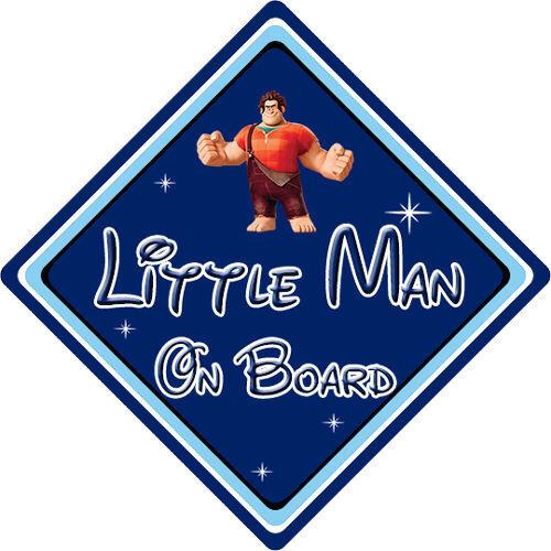 Baby On Board Disney Wreck It Ralph DB Little Man On Board Car Sign