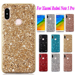 buy online 39866 64a41 Details about For Xiaomi Redmi Note 5 6 Pro Luxury Electroplate Soft Bling  Glitter Cover Case