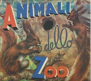 Animali-dello-Zoo-Collana-Rosa-d-039-Oro-Conte-circa-1950-Disegna-Scudellari