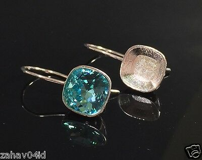 Beautiful Elegant and Classic Bezel Earrings For Gluing 4470 10mm Swarovski