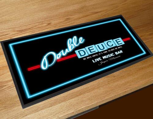 Bar runner Double Deuce Bar Road House movie inspired club beer Label mat