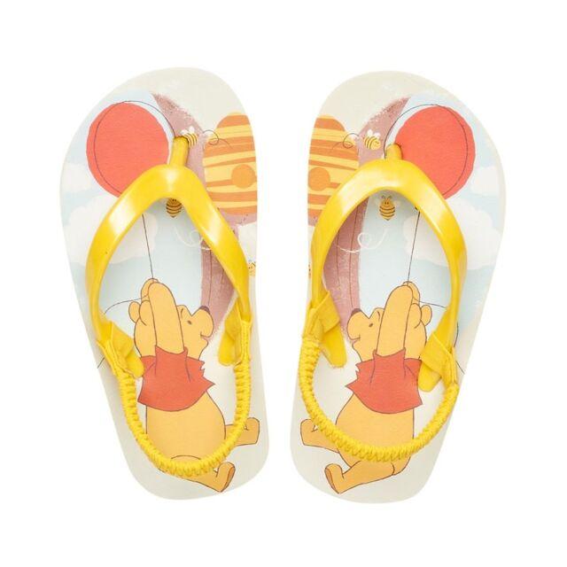 731543f67 NEW toddler DISNEY thong WINNIE the POOH strap FLIP FLOP SANDAL size 7 8 (