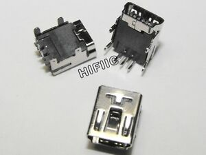 10PCS 5-Pin Female Mini USB DIP Socket Connector