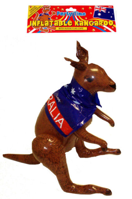 INFLATABLE KANGAROO 70CM HIGH AUSSIE AUSTRALIAN  PARTY