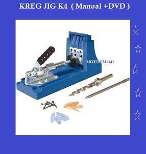 KREG K4 Pocket Hole Jig System Woodworking Kit / Manual
