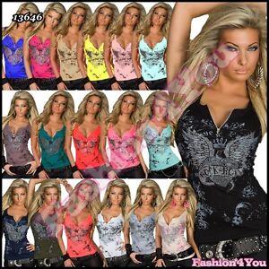 Sexy-Women-039-s-Ladies-Top-Summer-Casual-Angel-Wings-Top-Size-8-10-10-12-12-14-UK