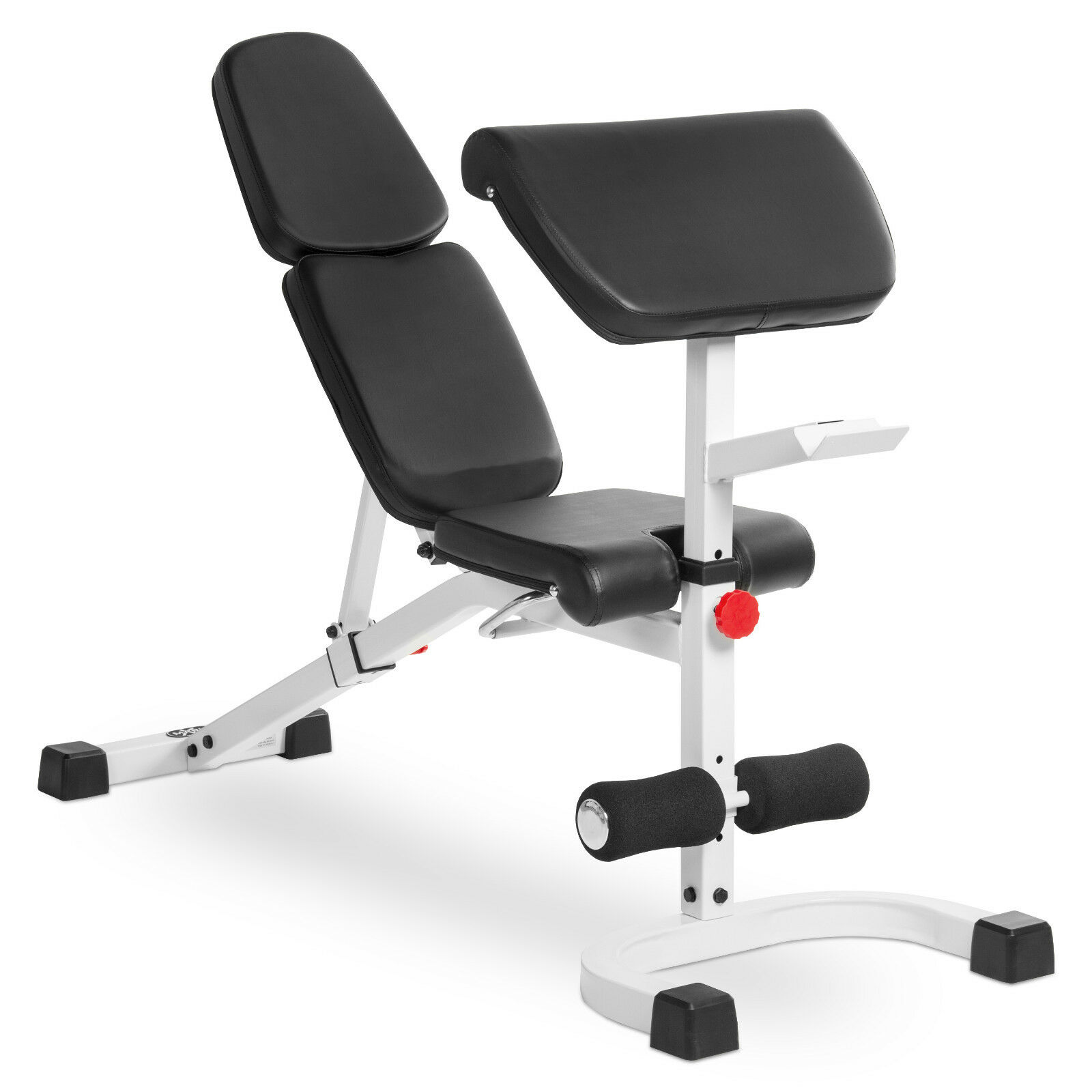 XMark Fitness Flat Incline Decline  (FID) Bench with Preacher Curl XM-4417-WHITE  save 35% - 70% off