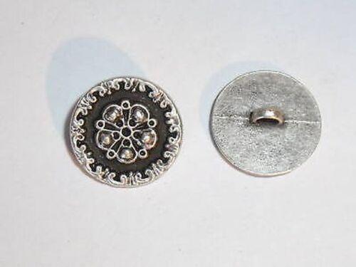 8 Metallknöpfe Knöpfe  18mm Altsilber Trachten    201mk
