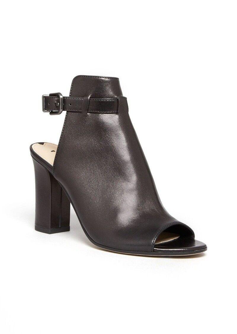 Via Spiga Women's Fabrizie High Heel Open Toe Sandals Size 8.5 Black Leather