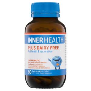 Inner Health Plus Dairy Free 90 Capsules Live Probiotic Gut Health 25 Billion