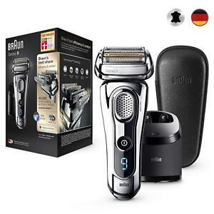 Braun-Series-9-9297cc-Premium-Edition-Reinigungs-und-Ladestation-Leder-Etui-NEU
