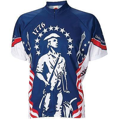 World Jerseys 1776 Mens Cycling Jersey bluee White X-Large Bike