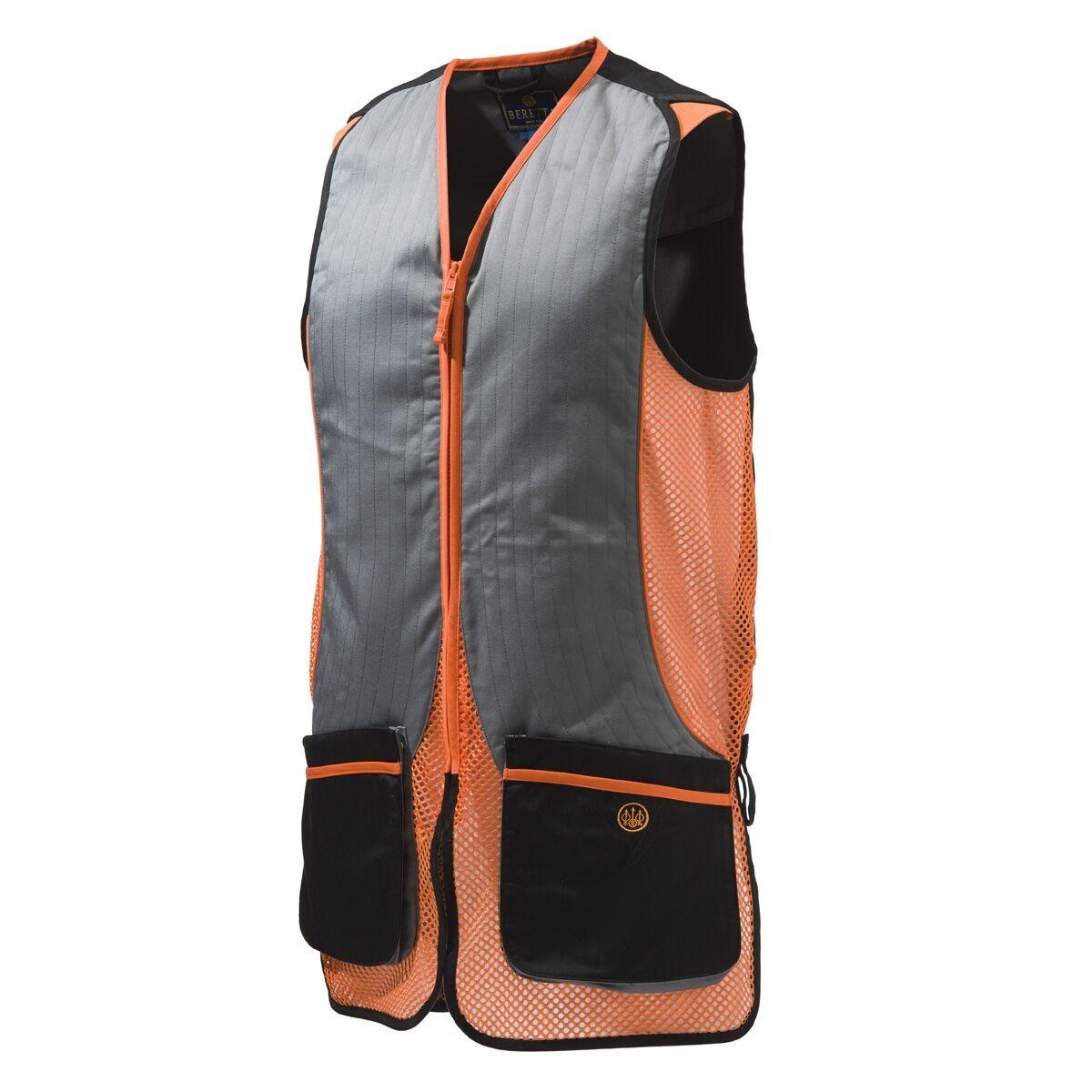 Para Hombre Tiro Chaleco  Beretta Plata Paloma-Negro naranja-todos Los Tamaños-Nuevo  exclusivo