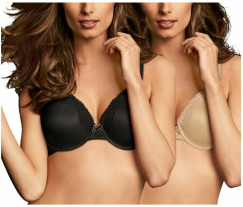 Maidenform Womens 2 Pack Comfort Bra with Lace Trim OOP