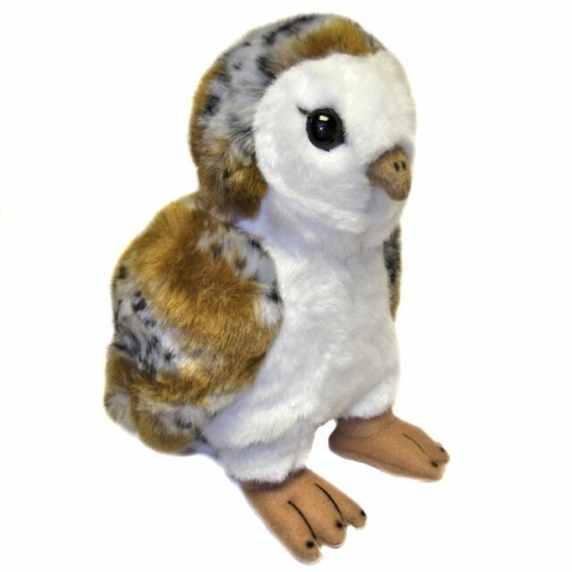 Barn Owl Soft Toy with Moving Head By Dowman - Cuddly Toy