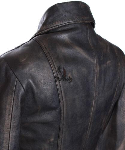 Ladies Military Stylish Retro Lambskin Leather Jacket Diaz Rust Black SR2812