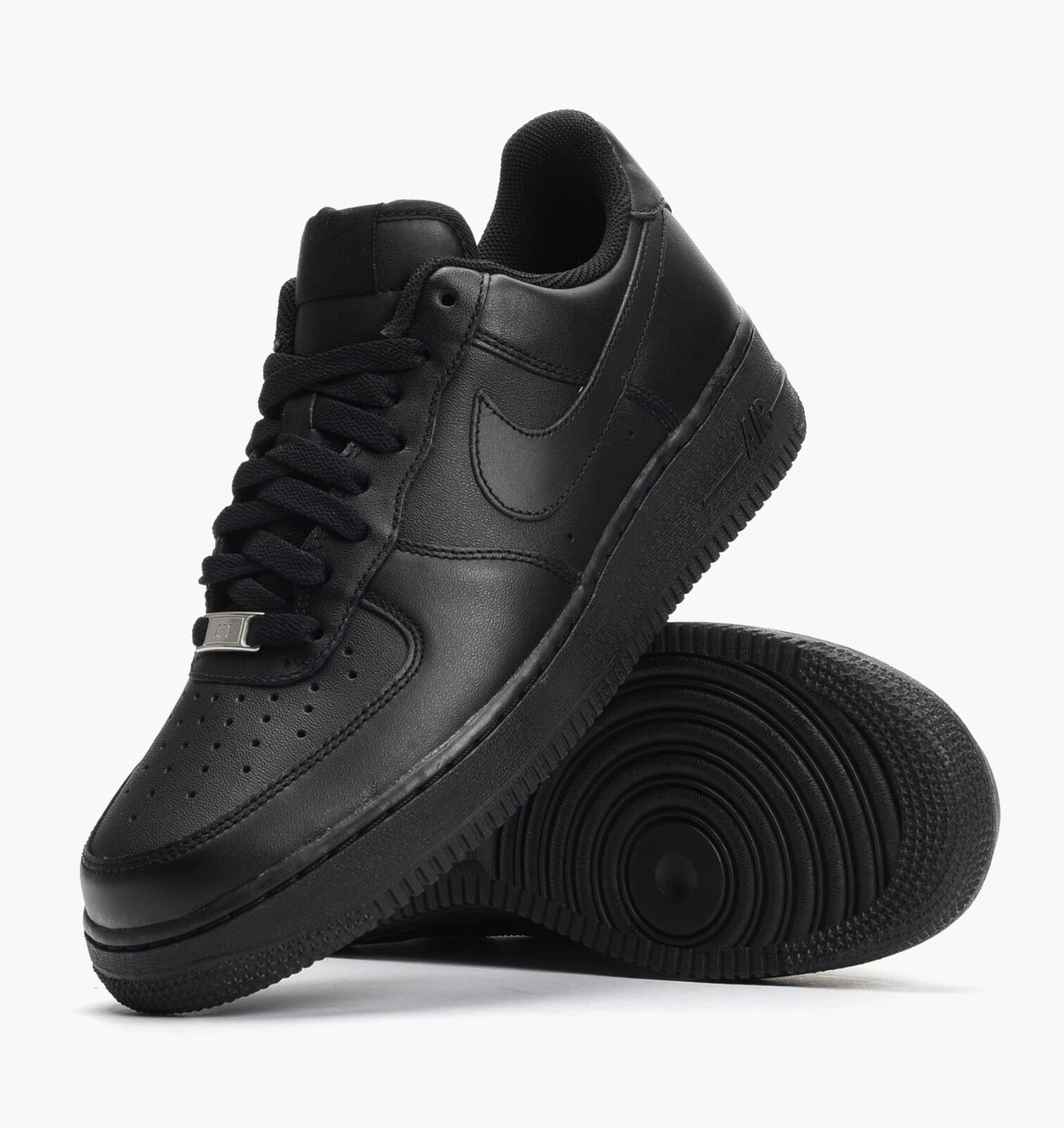 NIKE AIR FORCE 1 LOW OG MENS BLACK/BLACK ALL LEATHER 315122-001 100% AUTHENTIC