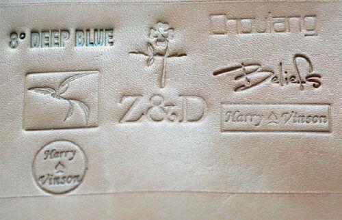 Oversize sceau cachet du LOGO en cuir Outils de Sculpture Custom Moule Fer machine Plaque