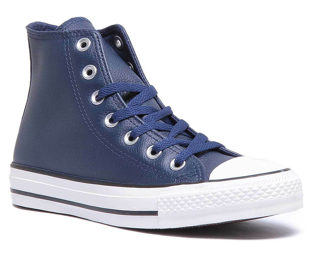 Converse 161495C Trainer Womens Navy Leather Matt Trainer 161495C fd5d0e