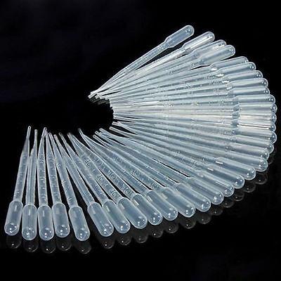 New 100PCS 3ML Disposable Plastic Eye Dropper Set Transfer Graduated Pipettes ZZ