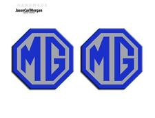 MG TF LE500 70mm Badge Insert Set Front Grill Rear Boot MG Logo Blue & Silver