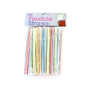Flexible Drinking Straws (150 Count)