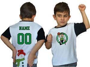 hot sale online 33c56 09556 Details about Boston Celtics Kids Tee Shirt NBA Personalized Logo Youth  Unisex Jersey Gift Fan