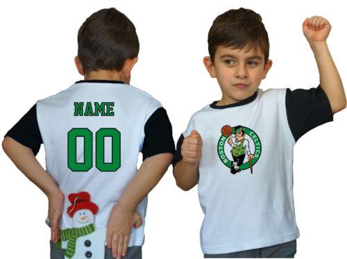 Boston Celtics Kids Tee Shirt NBA Personalized Logo Youth Unisex Jersey Gift Fan