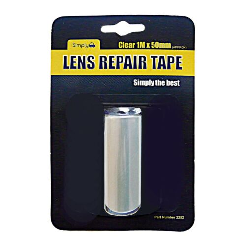 Car Auto Lens TAPE Repair Broken Cracked Rear Front Lights CLEAR 1M x 50mm