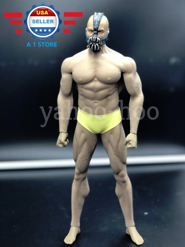 1/6 Bane Head sculpt WITH Phicen M34 Steel Skeleton Male Seamless Muscular Body