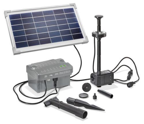 Solar Teichpumpe 8W 300l//h Akku LED Solarpumpe Gartenteichpumpe esotec 101923