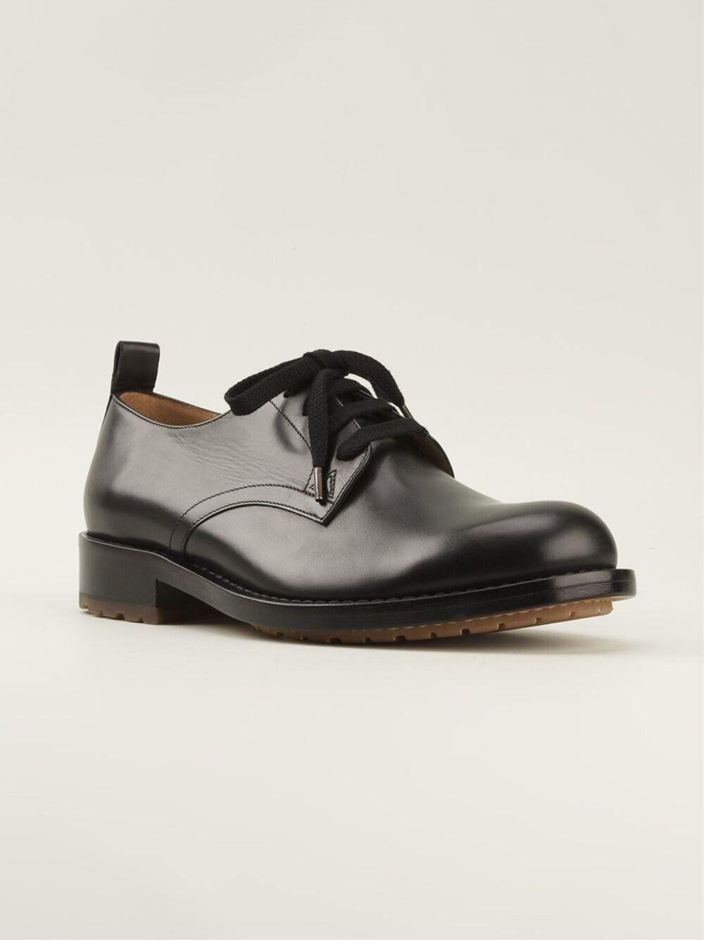 Valentino Rockstall nero Leather  Round Toe Derby Lace -Up Dimensione 44EU  11US  1295.00  promozioni