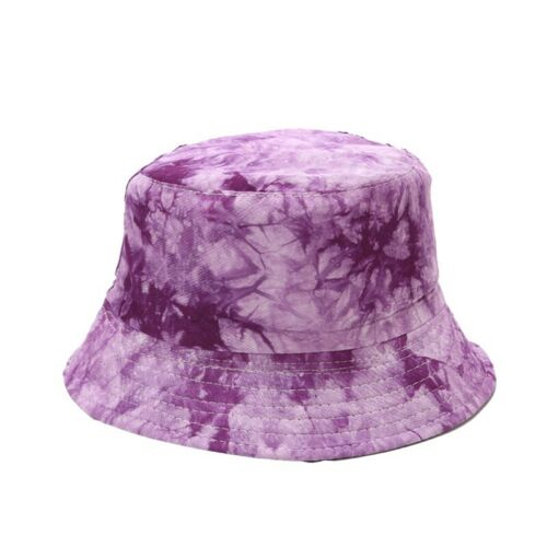Summer Tie Dye Sun Hat Bucket Cap Travel Beach Fashion Fisherman Hat Unisex